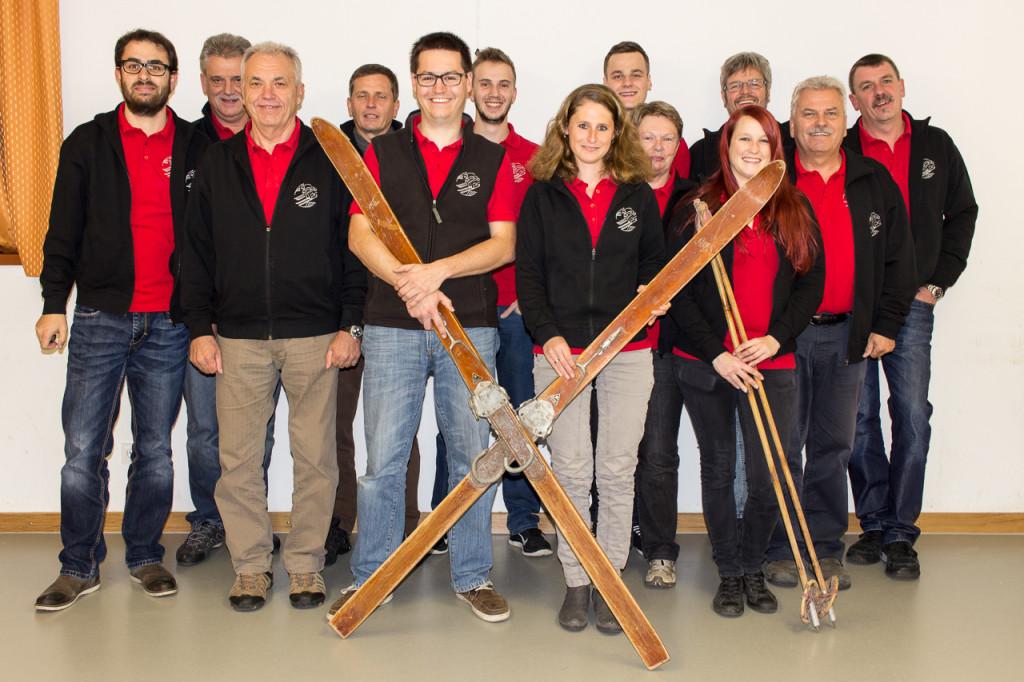 Der Ausschuss der Skiabteilung im November 2015