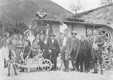 Wandergruppe um 1935 bei Hülben