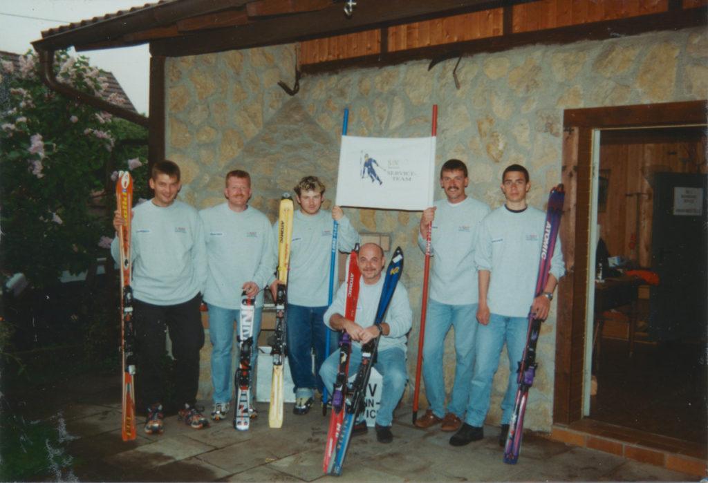 Das Gründungsteam im Frühjahr 2000